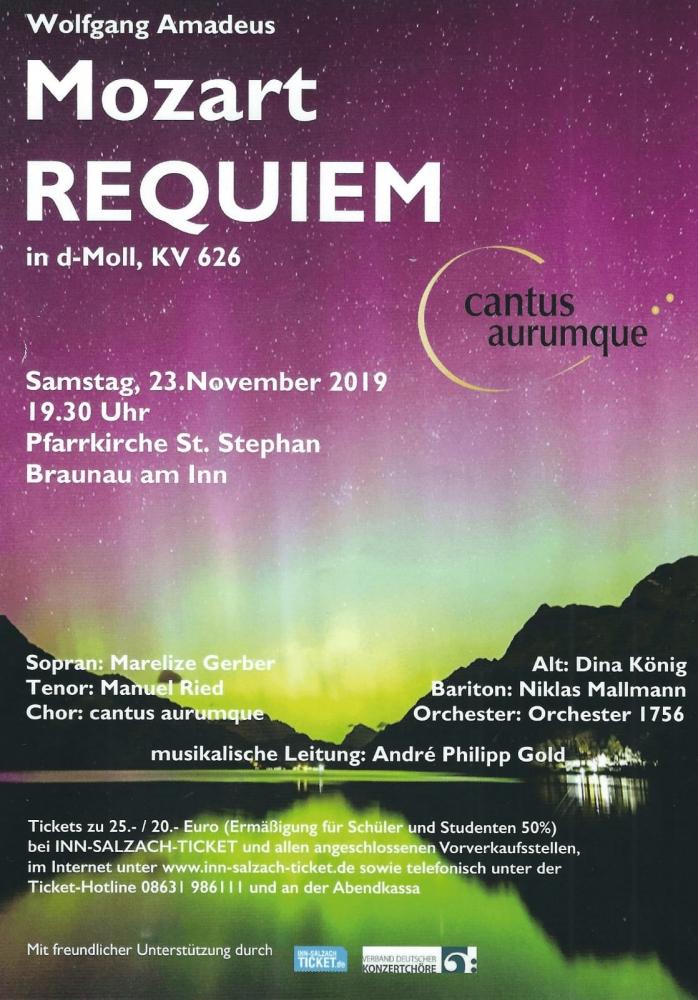Mozart Reqiem mit Kraft Birgit in Braunau