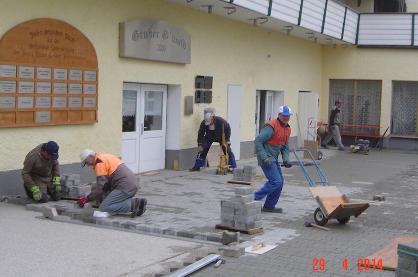 Arbeiten vor dem Gewölbe